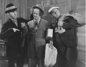 The Three Stooges (Moe, Larry, Curly) in Ants in the Pantry