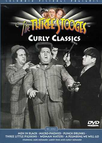 The Three Stooges: Curly Classics, starring Moe Howard, Larry Fine, Curly Howard - Curly Classics - Men in Black - Micro-Phonies - Punch Drunks - Three Little Pigskins - Woman Haters - A Plumbing We Will Go