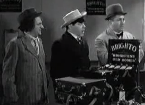 Dizzy Doctors - the Three Stooges (Moe, Larry, Curly) become Brighto salesmen