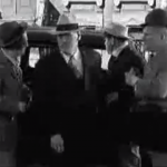 Dizzy Doctors - the Three Stooges (Moe, Larry, Curly) offer to polish Vernon Den'ts new car