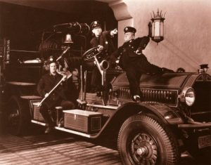 The Three Stooges as fire fighters