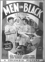 Original movie poster for the Three Stooges short film, Men in Black