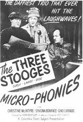 The Three Stooges - Micro-Phonies - Moe Howard, Larry Fine, Curly Howard - Chrstine McIntyre - the daffiest trio ever to hit the laughwaves