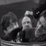 Of Cash and Hash - the Three Stooges hiding in a garbage can