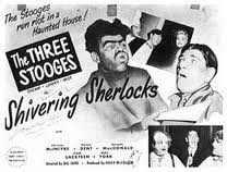 Original movie poster for the Three Stooges short film, Shivering Sherlocks