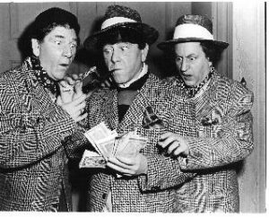 Studio Stoops - the Three Stooges, Shemp Howard, Moe Howard, Larry Fine
