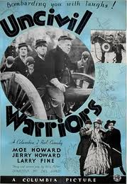 Uncivil Warriors, starring the Three Stooges - original movie poster