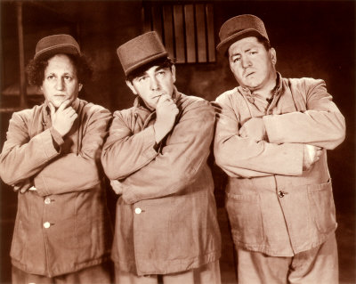 Publicity photo for the Three Stooges short film, Wee Wee Monsieur